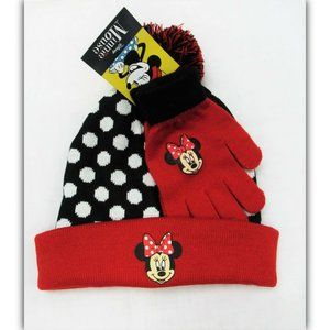 Minni Mouse Winter Hat & Gloves Set Disney Girls